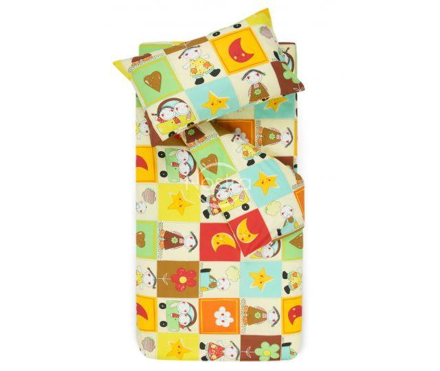 Bērnu katūna gultas veļa HAPPY DAYS 10-0427-BROWN