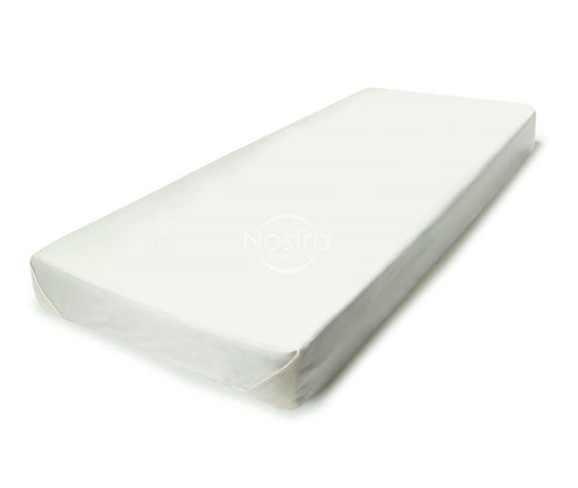 Satīna palagi bez gumijas 00-0001-OFF WHITE