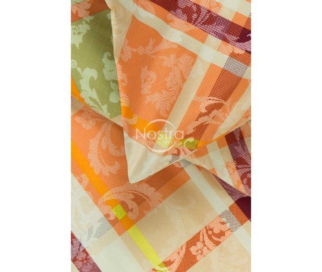 Mako satīna gultas veļa CATALINA 40-0674-PEACH 200x220, 50x70 cm