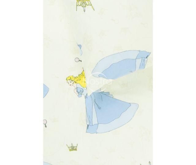 Bērnu katūna gultas veļa BEAUTIFUL PRINCESS 10-0416-BLUE
