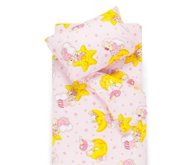 Bērnu katūna gultas veļa DREAMY BEARS 10-0304-PINK