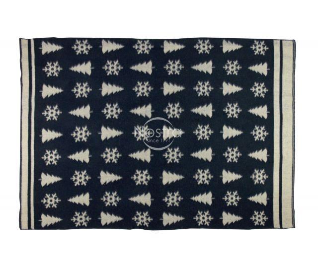 Pleds no MERINO vilnas 80-3189-BLUE