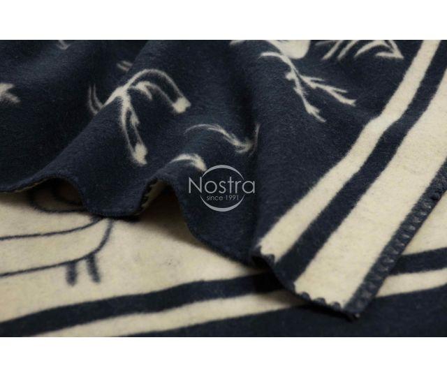 Pleds no MERINO vilnas 80-3190-BLUE
