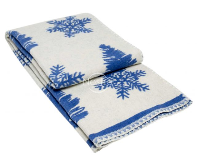 Kokvilnas pleds SUMMER 80-2044-BLUE