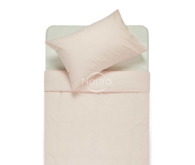 Bērnu katūna gultas veļa LITTLE CHECKS 30-0200-ROSA
