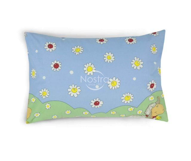 Bērnu katūna gultas veļa SUMMER SHEEP 10-0029-BLUE