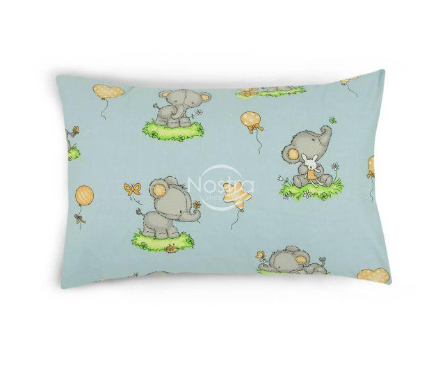 Bērnu katūna gultas veļa BABY ELEPHANT PARTY 10-0212-L.BLUE