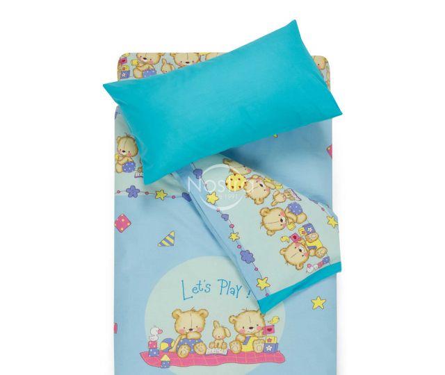 Bērnu katūna gultas veļa BEARS 10-0215/00-0358-L.BLUE/BLUE ATOL