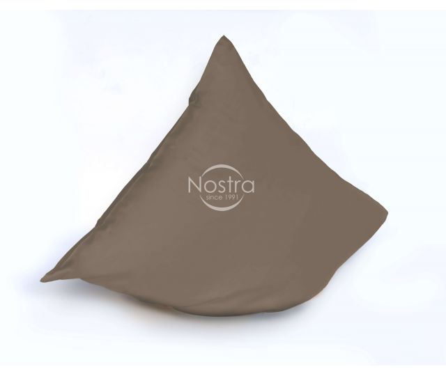 Dyed sateen pillow cases with zipper 00-0211-CACAO