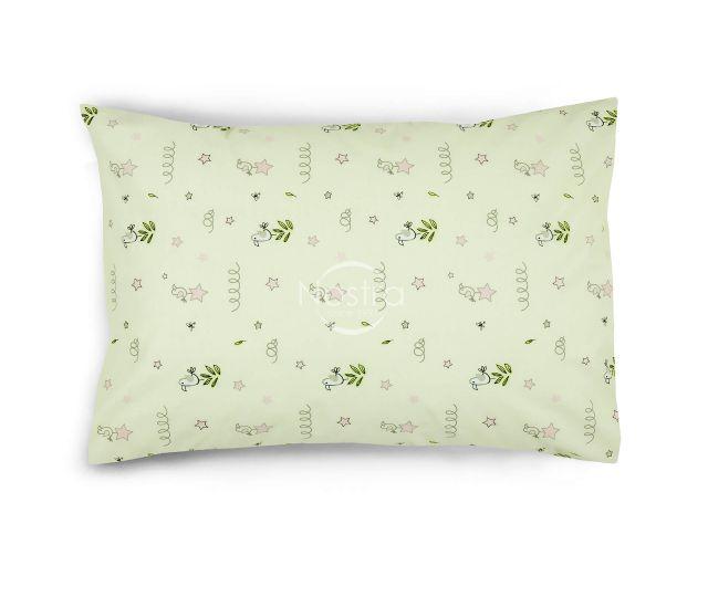 Bērnu katūna gultas veļa MINI BIRDS 10-0512-ROSE
