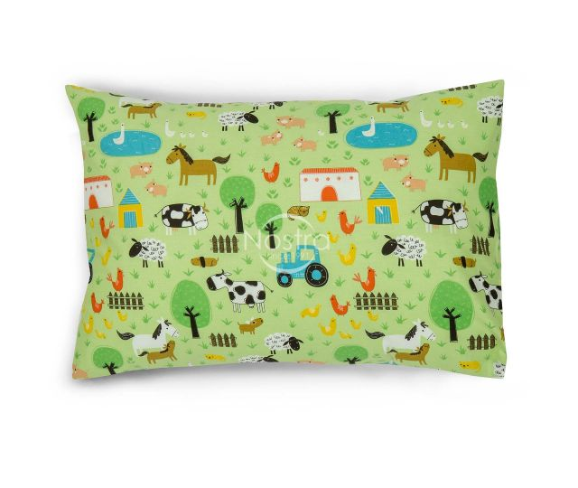 Bērnu katūna gultas veļa FARM 10-0513-GREEN