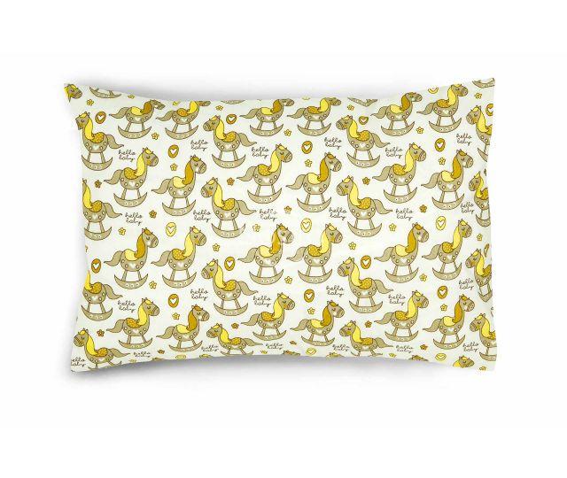 Bērnu katūna gultas veļa WOODEN HORSE 10-0534-BEIGE