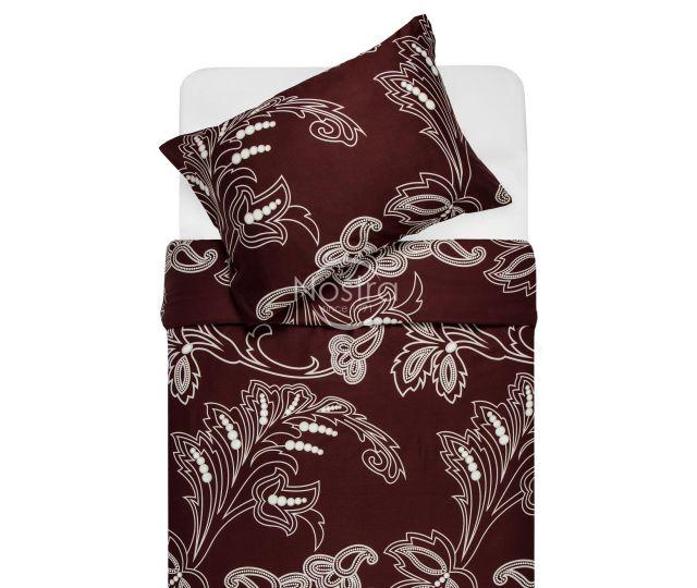 Satīna gultas veļa AHUVA 20-1354-BROWN 200x220, 50x70 cm
