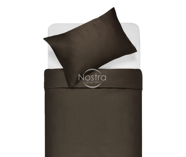 Satīna gultas veļa ADELA 00-0154-DARK BROWN 200x220, 50x70 cm