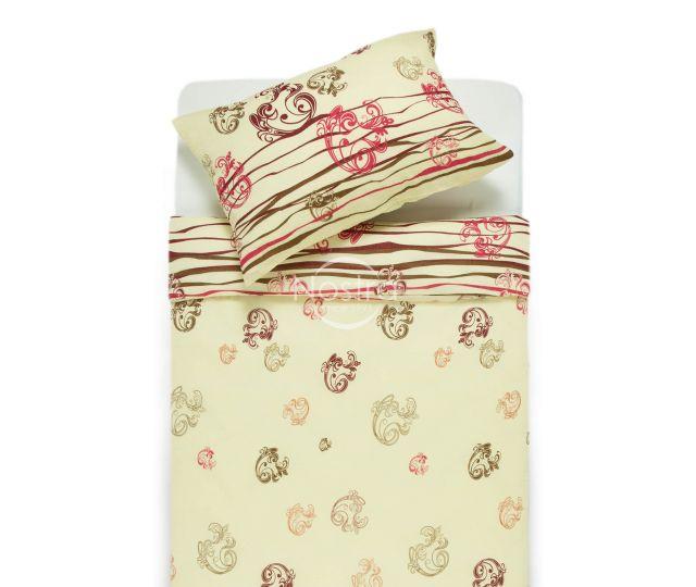 Burzīta gultas veļa IZPĀRDOŠANA 40-0705-WINE RED