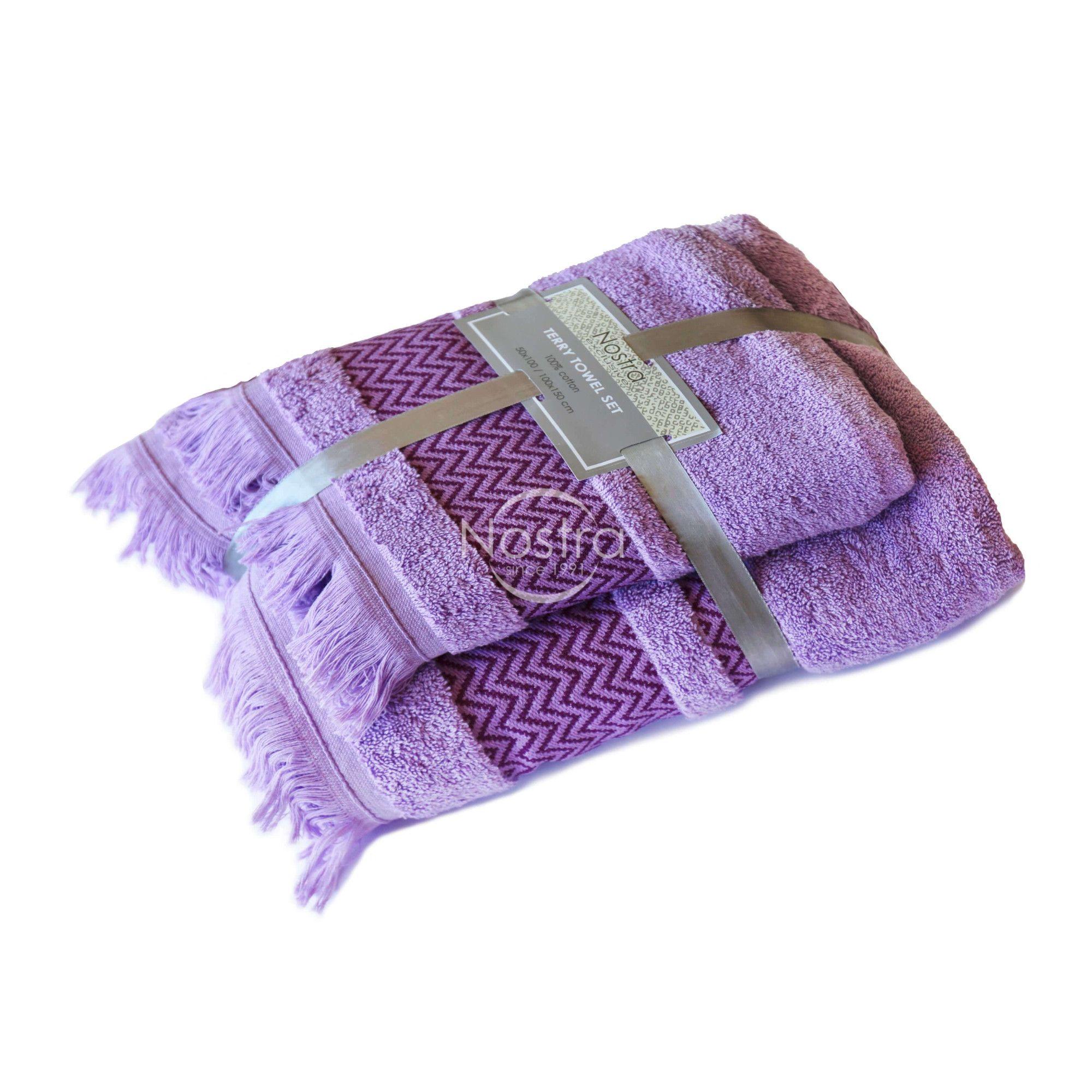 violetiniai sukuotines medvilnes ranksluosciai