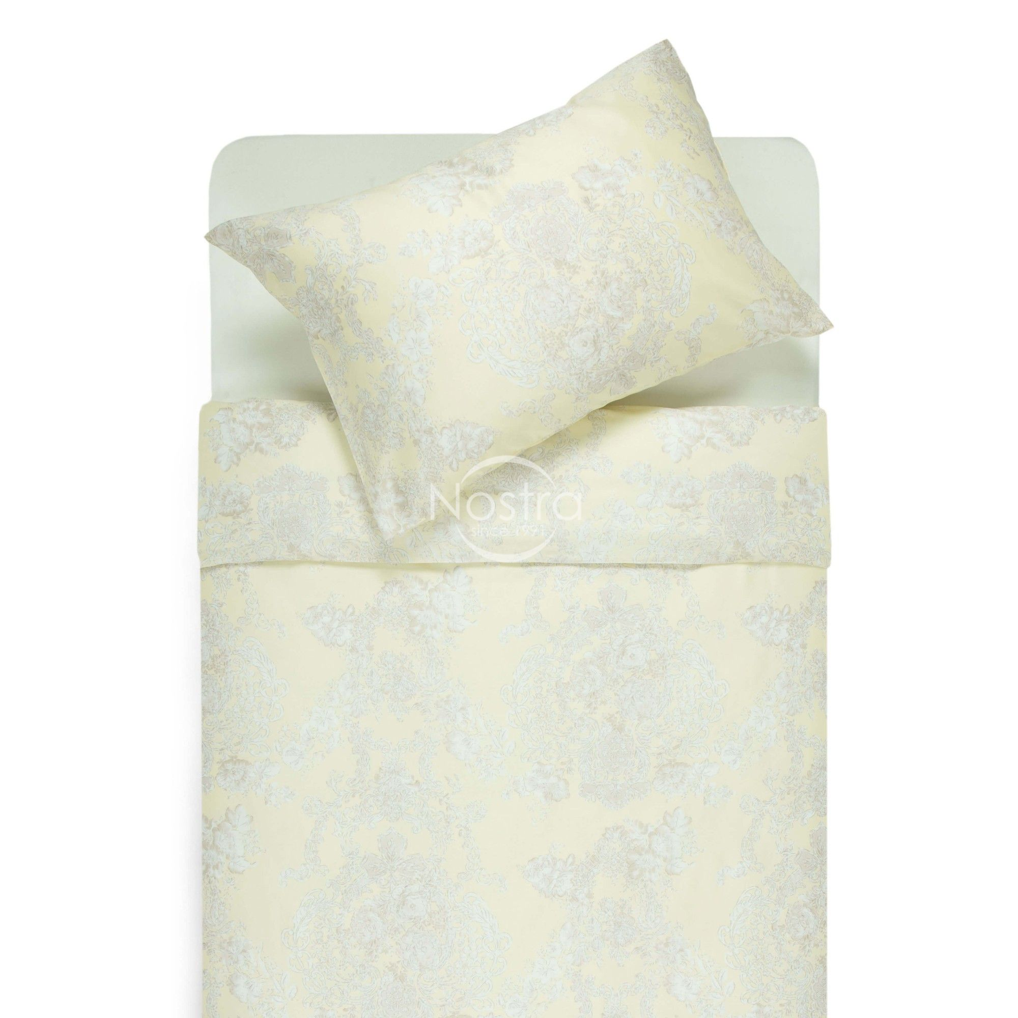 Mako satīna gultas veļa CECILIA 40-0876-BEIGE