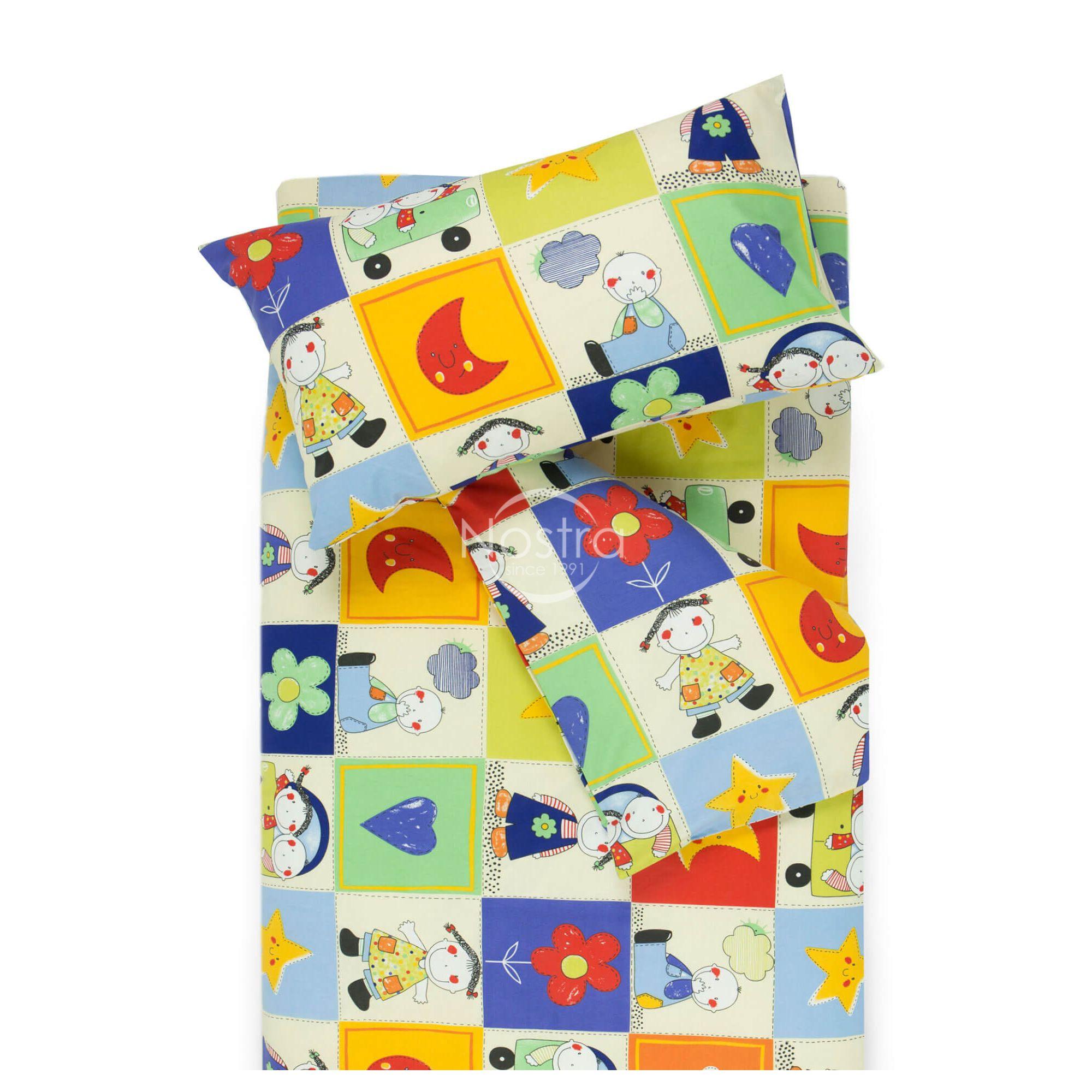 Bērnu katūna gultas veļa HAPPY DAYS 10-0427-BLUE