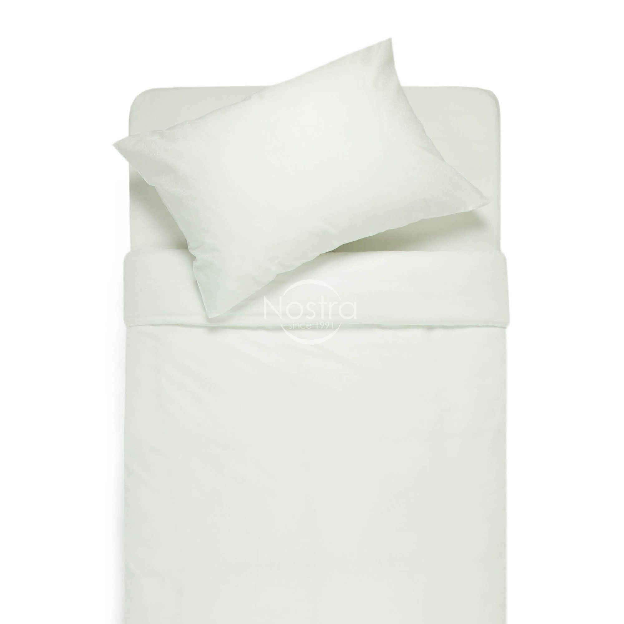 Satīna gultas veļa AFRAFINA 60-0002-WHITE ON WHITE
