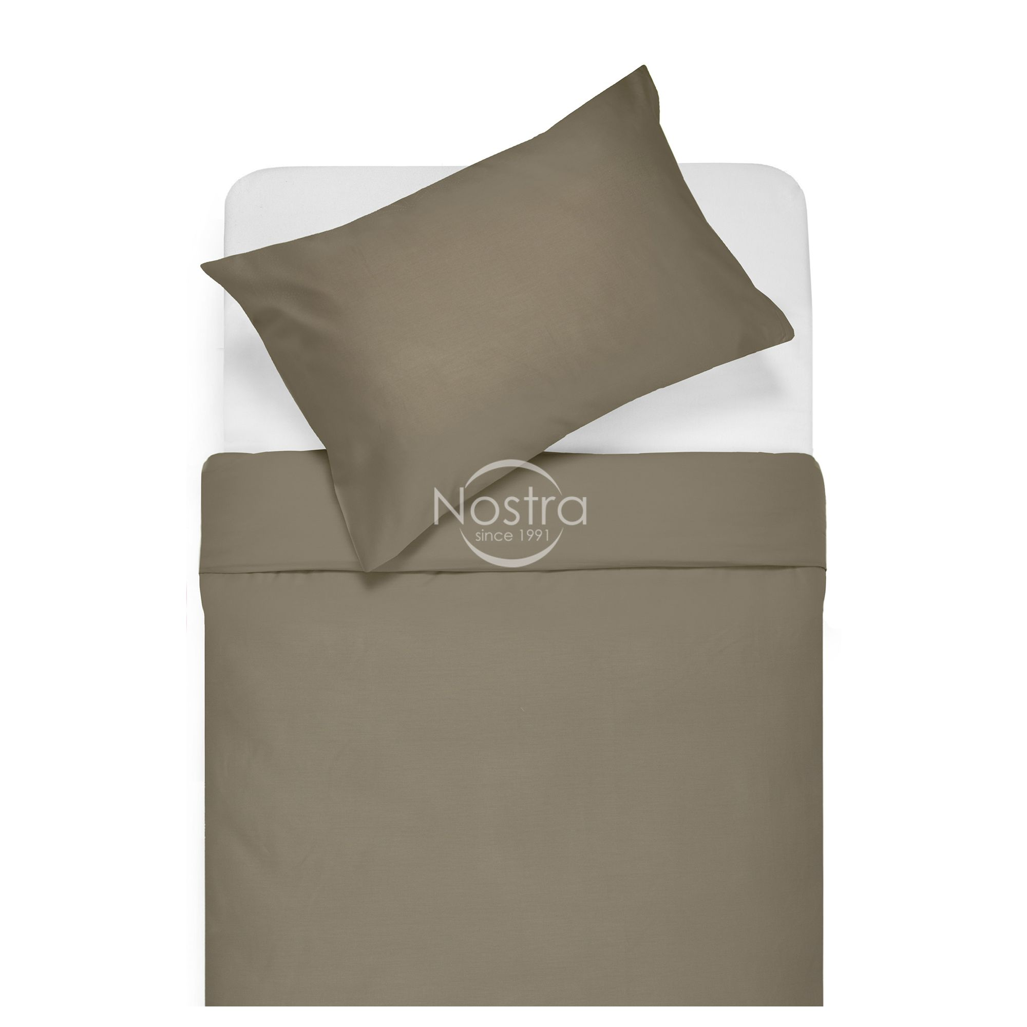 Satīna gultas veļa ADELA 00-0211-CACAO