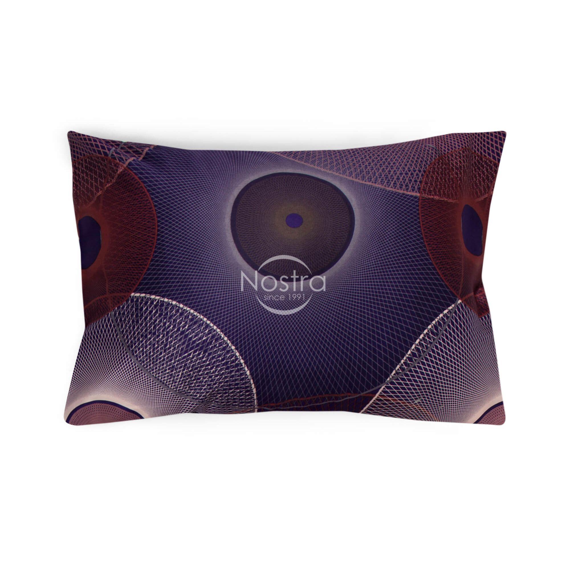 Satīna spilvendrāna ar rāvējslēdzējiem 30-0285-PURPLE