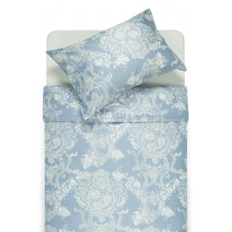 PREMIUM mako satīna gultas veļa CECILIA 40-0876-FOREVER BLUE