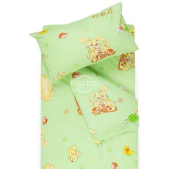 Bērnu katūna gultas veļa GOOD NIGHT BUNNY 10-0417-GREEN