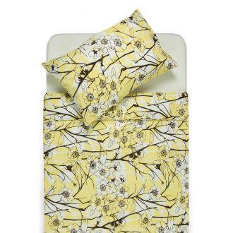 Burzīta gultas veļa EMMA 20-0437 yellow