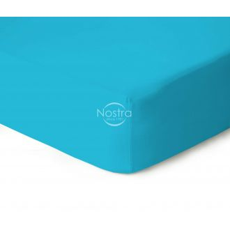 Fitted jersey sheets JERSEY-AQUA