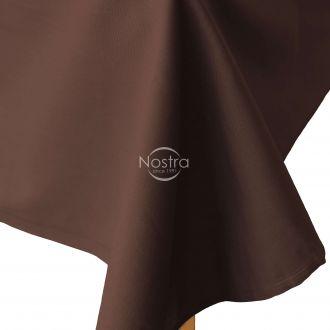 Flat cotton sheet 00-0154-DARK BROWN