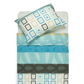 Seersucker bedding set EDIE 40-1061-AQUA