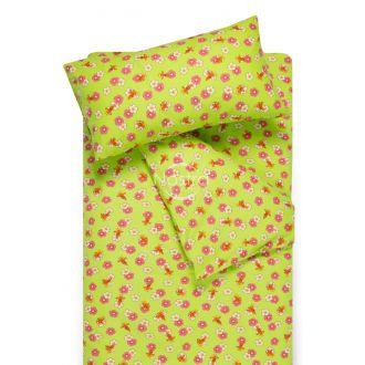 Bērnu flaneļa gultas veļa LITTLE BEES 10-0130-GREEN