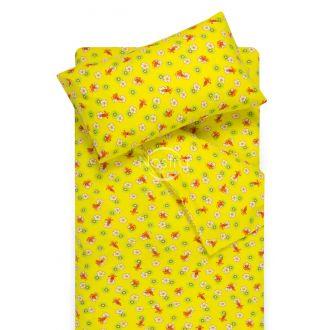 Bērnu flaneļa gultas veļa LITTLE BEES 10-0130-YELLOW