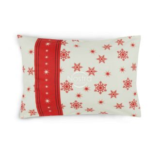 Flannel pillow cases with zipper 40-0996-WINE RED