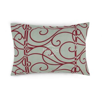 Flannel pillow cases with zipper 40-0998-RED