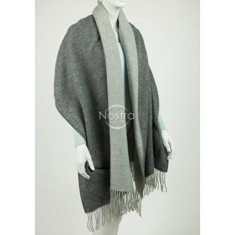 Scarf with pockets KUBA DOUBLE FACE-D.GREY L.GREY P.NO1