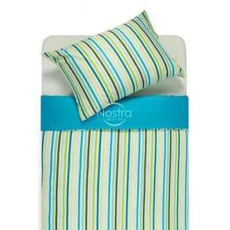 Sateen bedding set ADARA 00-0250/30-0487-AQUA/OLIVE