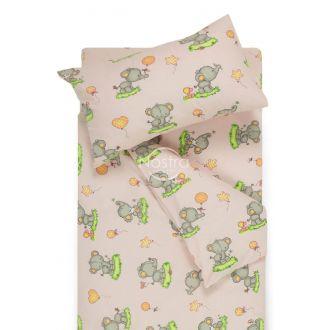 Bērnu katūna gultas veļa BABY ELEPHANT PARTY 10-0212-L.PINK