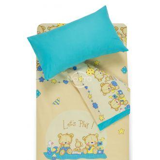 Bērnu katūna gultas veļa BEARS 10-0215/00-0358-BEIGE/BLUE ATOL
