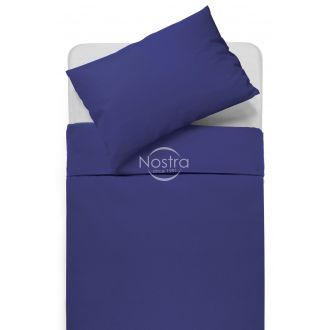 Kokvilnas gultas veļa DOTTY 00-0317-DARK BLUE
