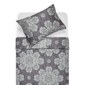 Sateen bedding set ALEXIS 40-0882-IRON GREY