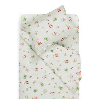 Bērnu katūna gultas veļa SLEEPING BABY 10-0362-GREEN
