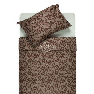 Sateen bedding set ALANNA 40-0567-BROWN