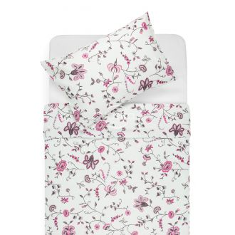 Cotton bedding set DEBRA 20-0256-FUCHSIA