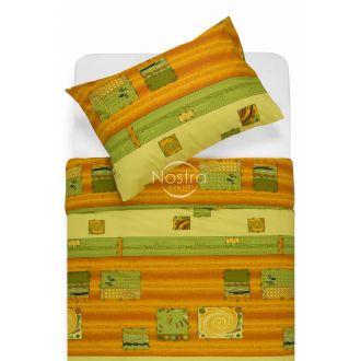 Kokvilnas gultas veļa DIZZY 40-0098-ORANGE
