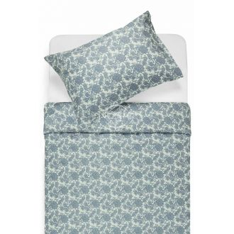 Renforcé bedding set NAOMI 40-1004-STONE BLUE