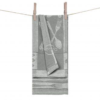Kitchen towel WAFEL-240 T0018-S.GREY WH