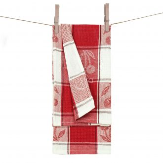 Kitchen towel WAFEL-240 T0019-RED WHITE