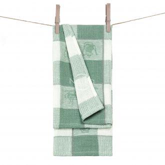 Kitchen towel WAFEL-240 T0103-GREEN