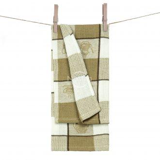 Kitchen towel WAFEL-240 T0103-L.BROWN